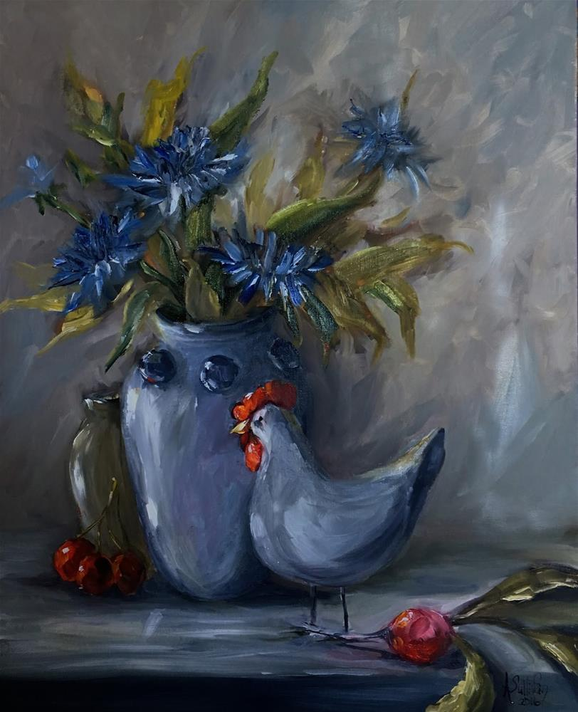 """Unlikely Things still life painting by Alabama Artist Angela Sullivan"" original fine art by Angela Sullivan"