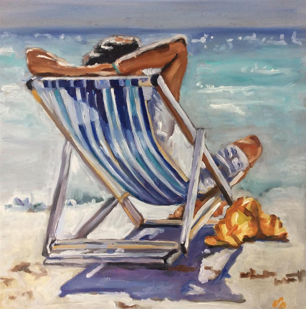 """""""Sunchair"""" original fine art by Sonja Neumann"""