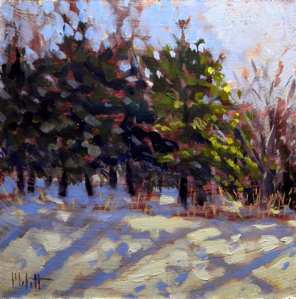 """Snowy Winter Landscape Heidi Malott Daily Painting"" original fine art by Heidi Malott"