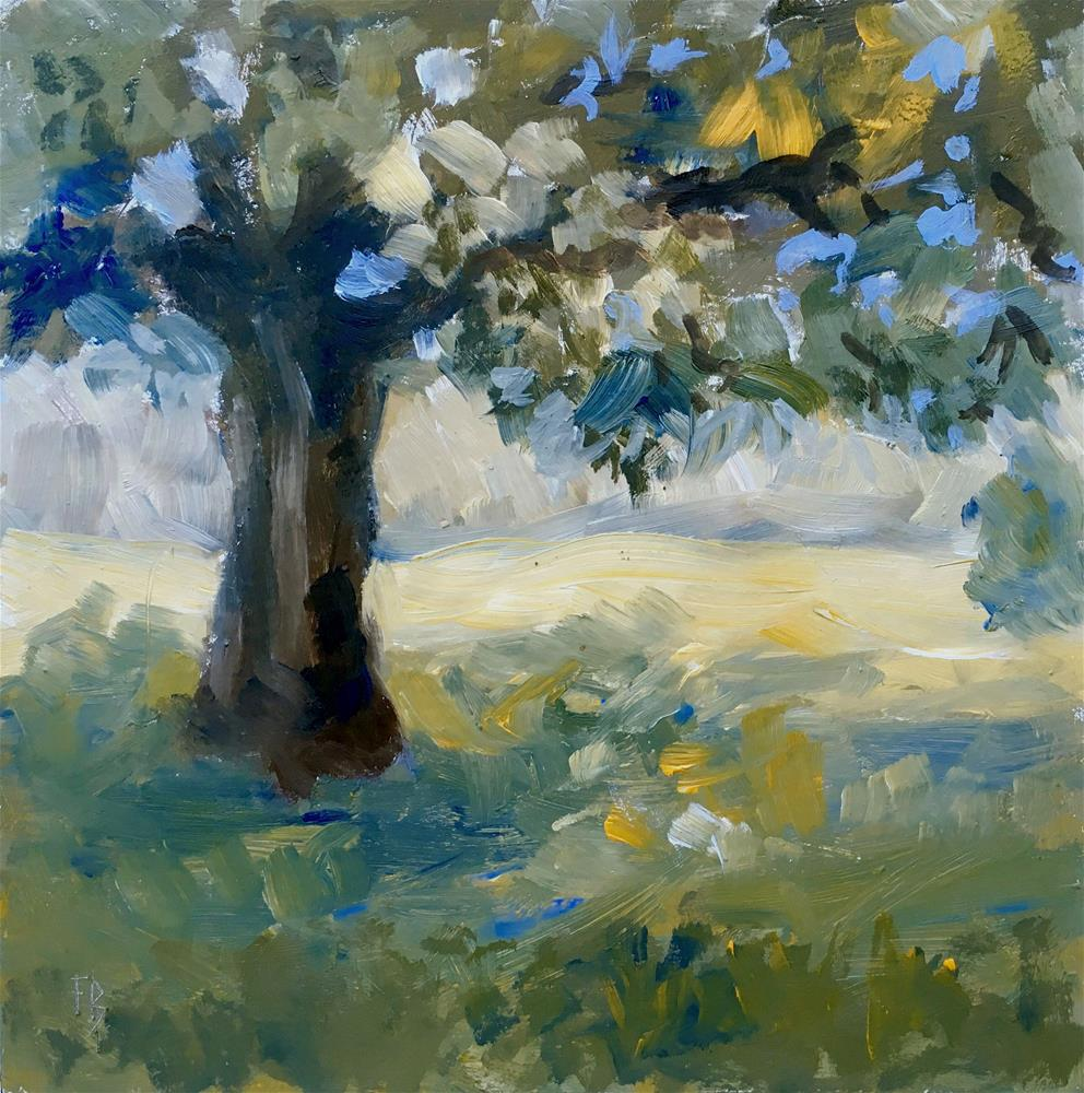 """079 Boerner Botanical Garden Tree"" original fine art by Fred Bell"