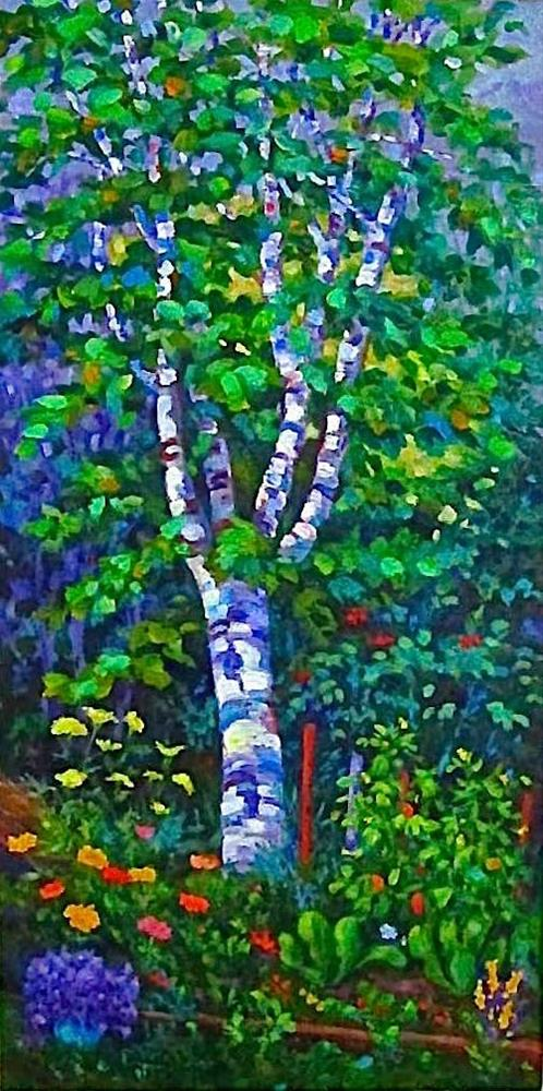 """A Garden in Terrace, B.C. (The big painting)"" original fine art by Patricia Musgrave"