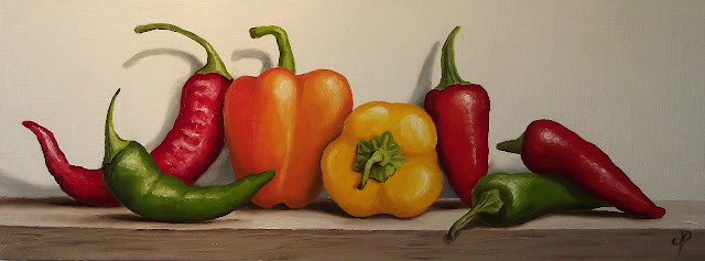 """Mixed Peppers"" original fine art by Jane Palmer"