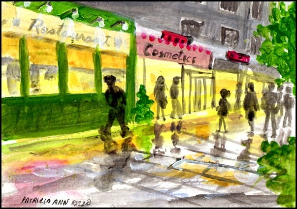 """City Street"" original fine art by Patricia Ann Rizzo"