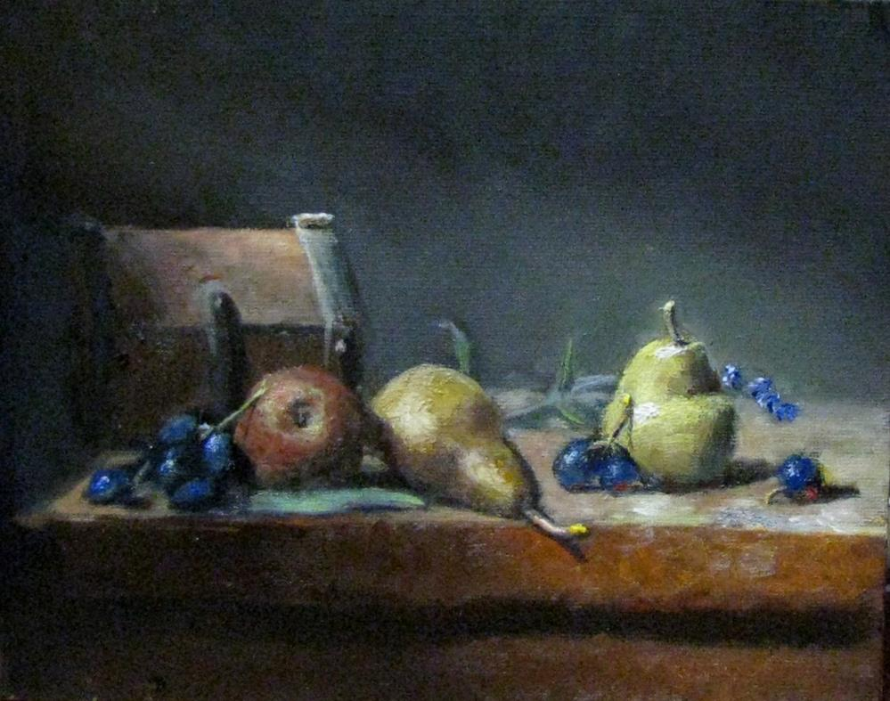 """When three is a pear"" original fine art by tom dawson"
