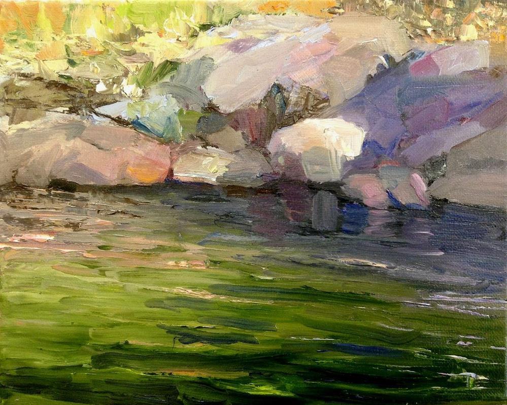 """""""Dappled Sunshine"""" original fine art by Cathy Boyd"""