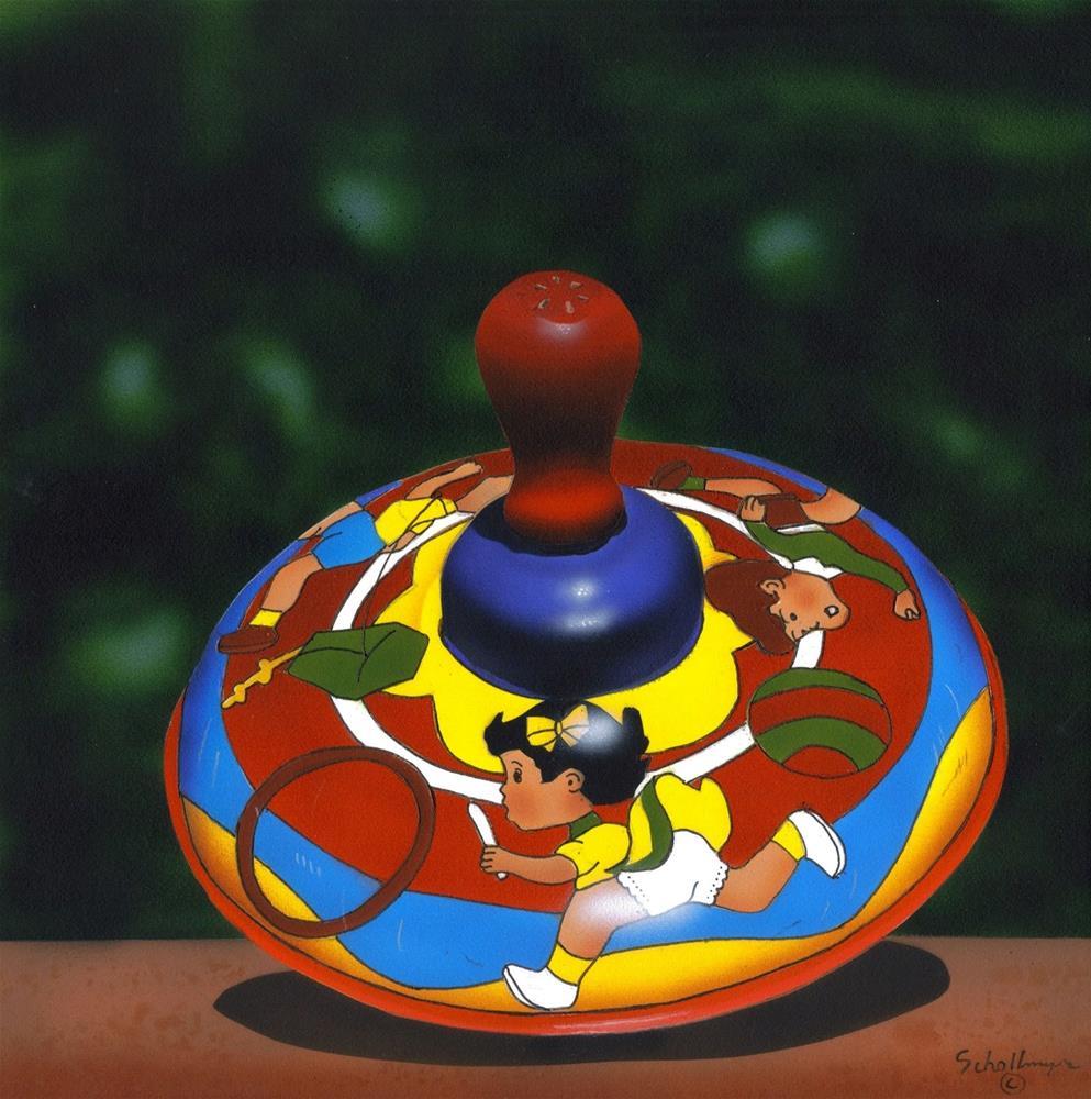 """Kid's Fun Top"" original fine art by Fred Schollmeyer"