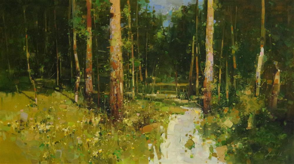 """Landscape oil Painting, Large Size Handmade art, Impressionism, One of a Kind"" original fine art by V Y"