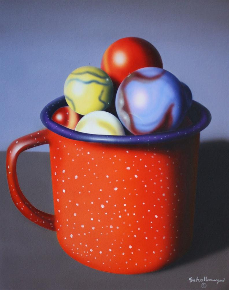 """Granite Cup and Marbles"" original fine art by Fred Schollmeyer"