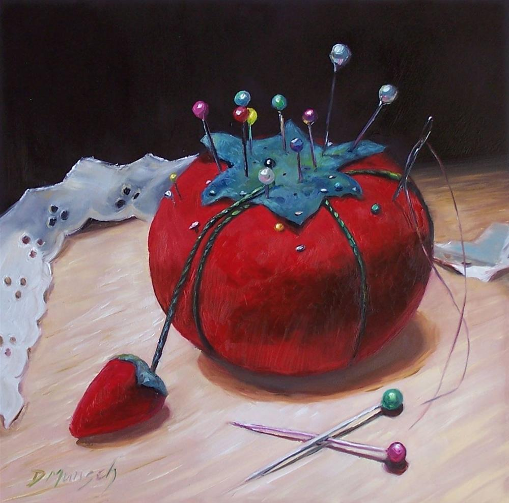 """Pin Cushion"" original fine art by Donna Munsch"