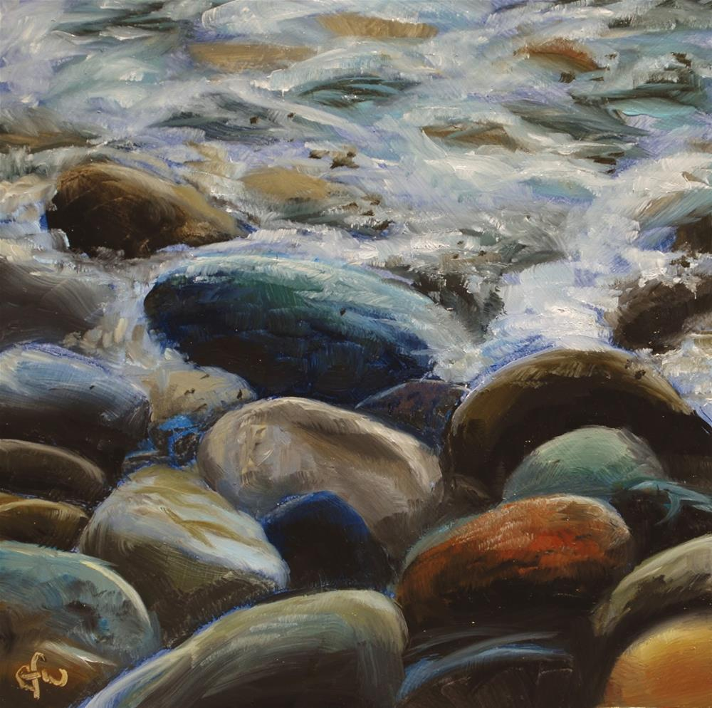 """Rocks on the Shore"" original fine art by Gary Westlake"