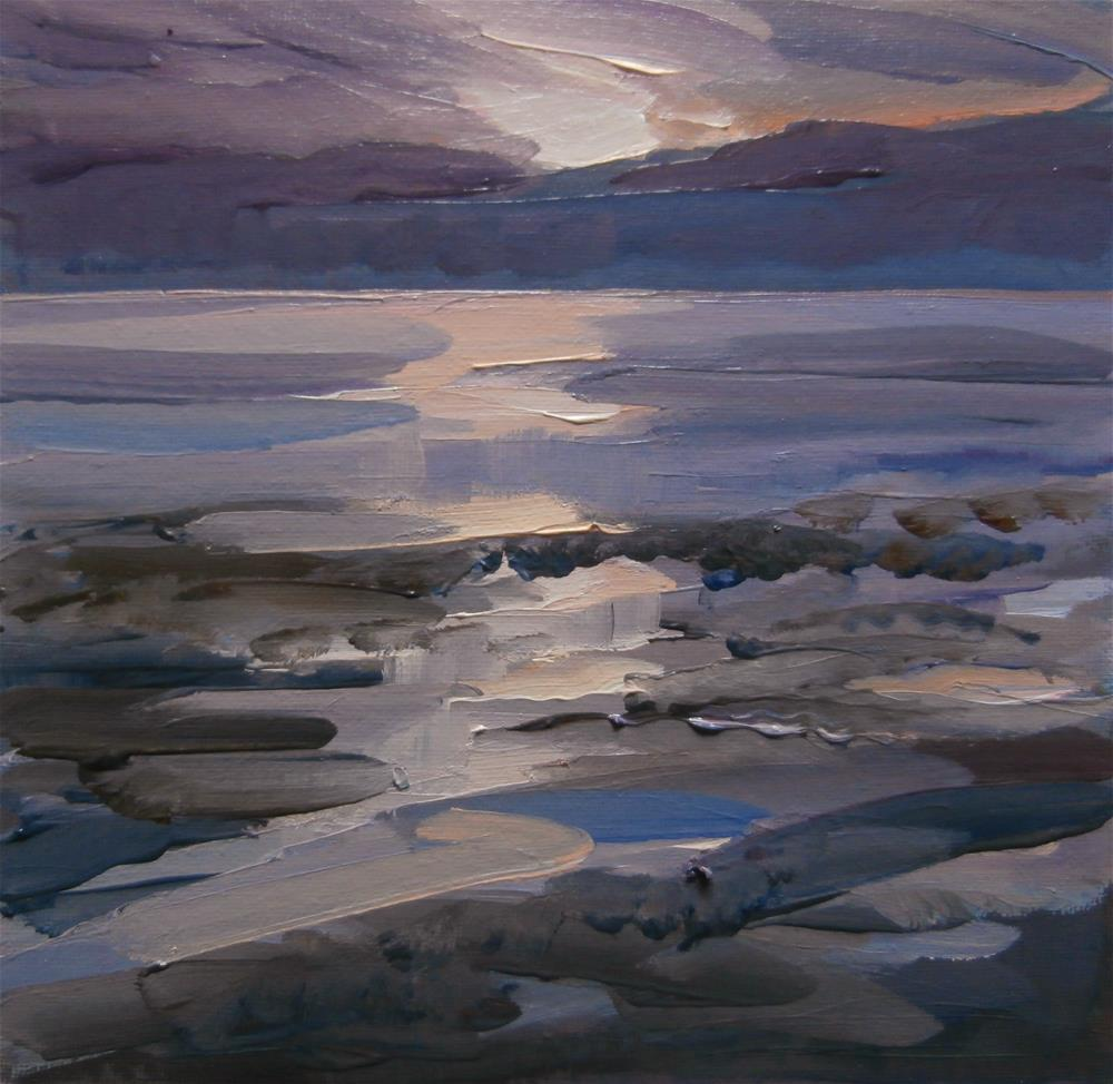 """Sunrise, Humber Estuary"" original fine art by Anne Wood"