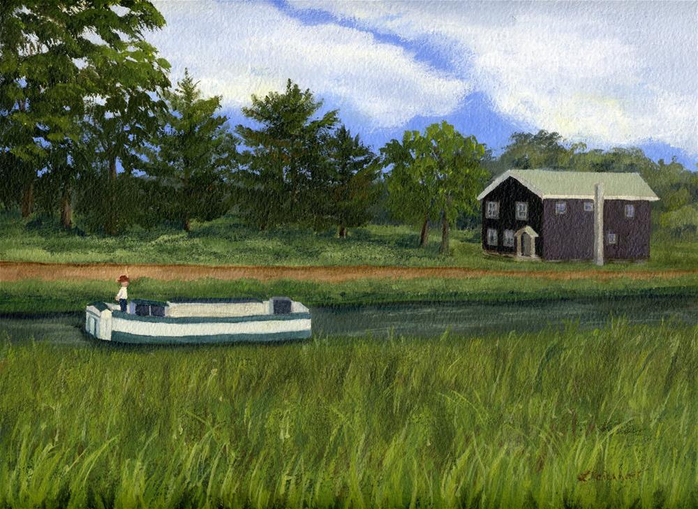 """""""Old Erie"""" original fine art by Lynne Reichhart"""