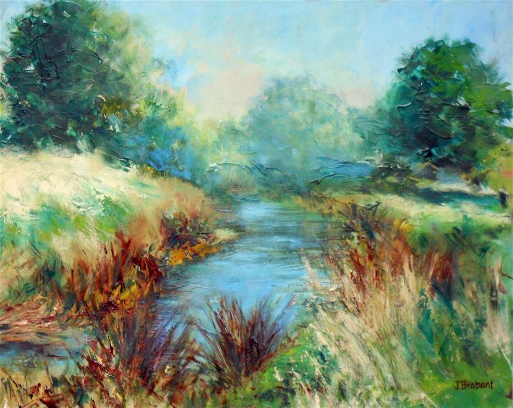 """River Bend"" original fine art by Jill Brabant"