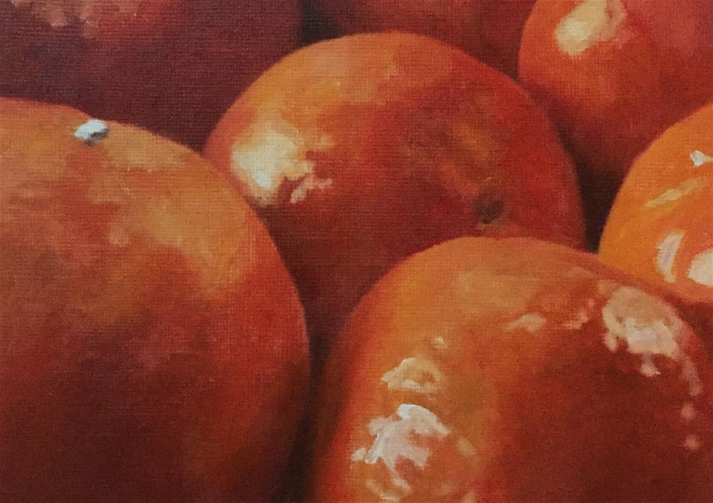 """Oranges"" original fine art by John Cameron"
