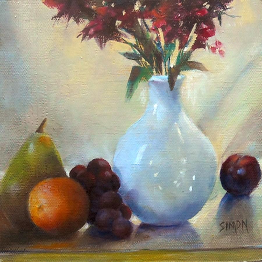 """""""Backlit Fruit Compote"""" original fine art by A.K. Simon"""