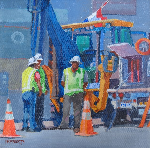 """Street Crew"" original fine art by Nancy Roberts"