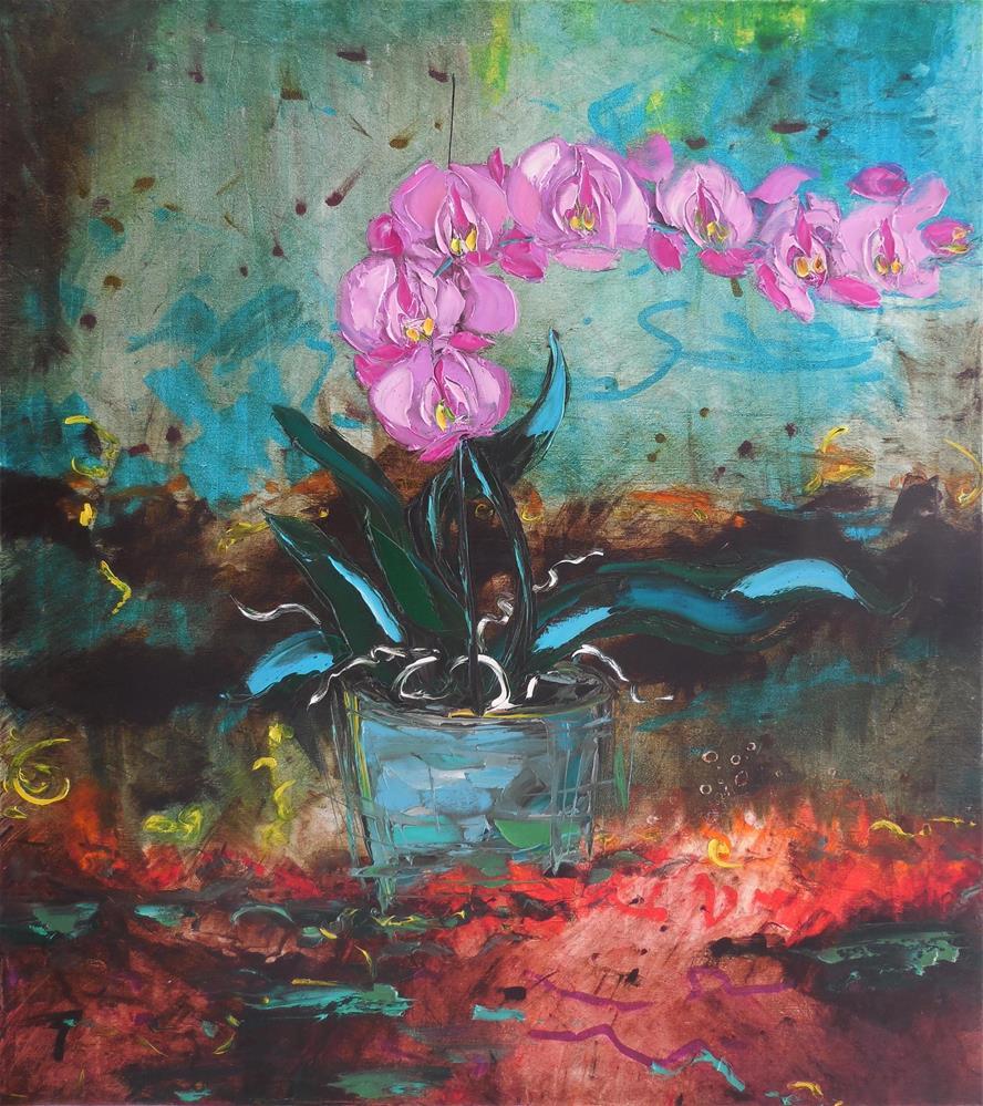 """""""Phalaenopsis"""" original fine art by Elena Lunetskaya"""