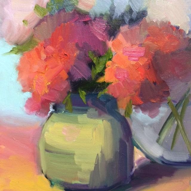 """Hydrangeas"" original fine art by Naomi Bautista"