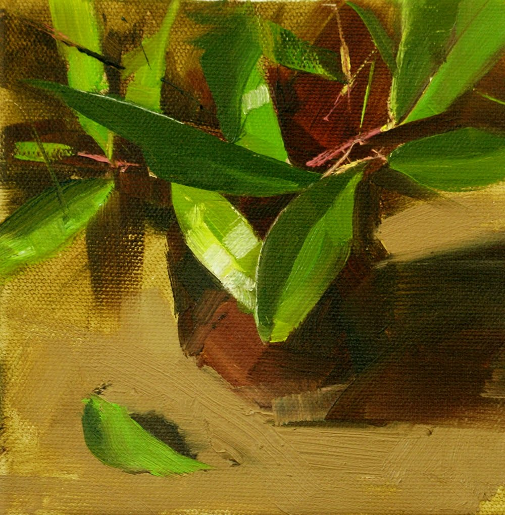 """Green Rhythm"" original fine art by Qiang Huang"