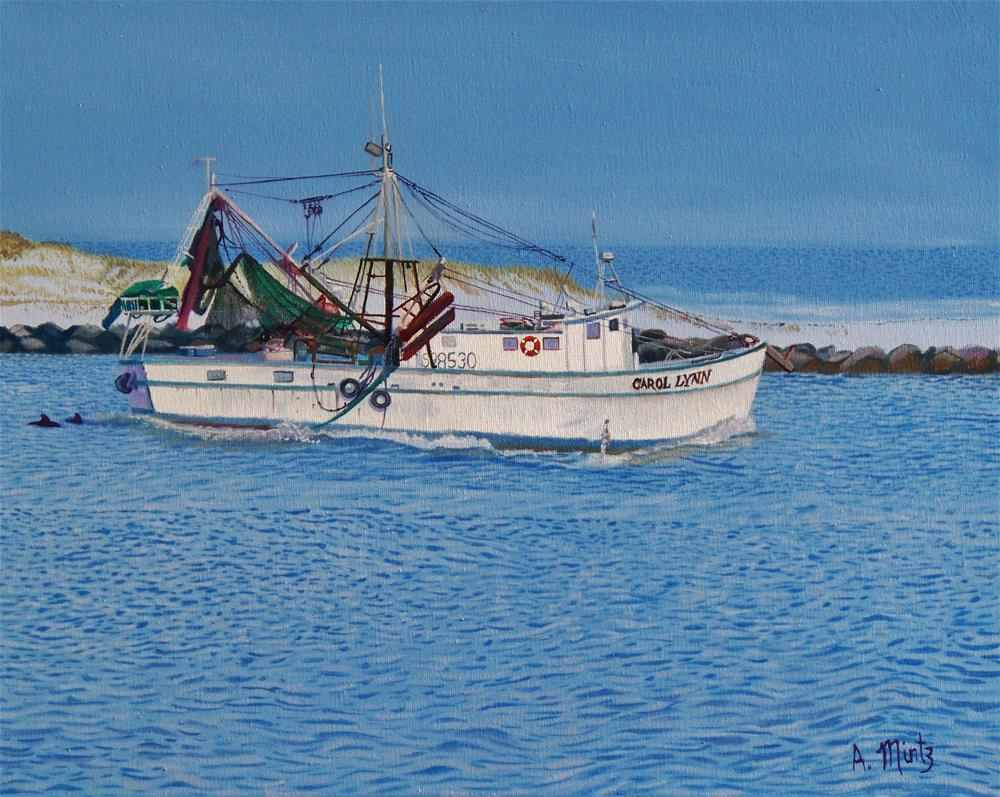 """Shrimp Boat Carol Lynn"" original fine art by Alan Mintz"