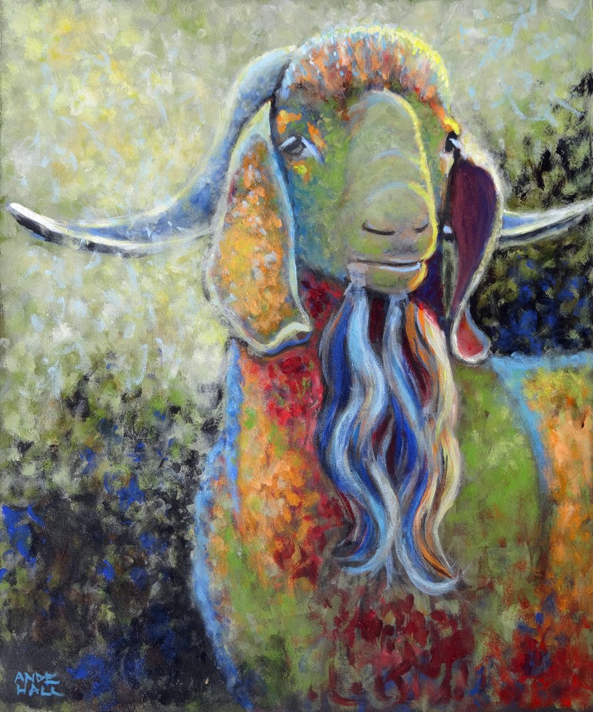 """Angelo"" original fine art by Ande Hall"
