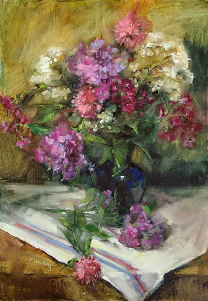 """Phlox Bouquet"" original fine art by Barbara Schilling"