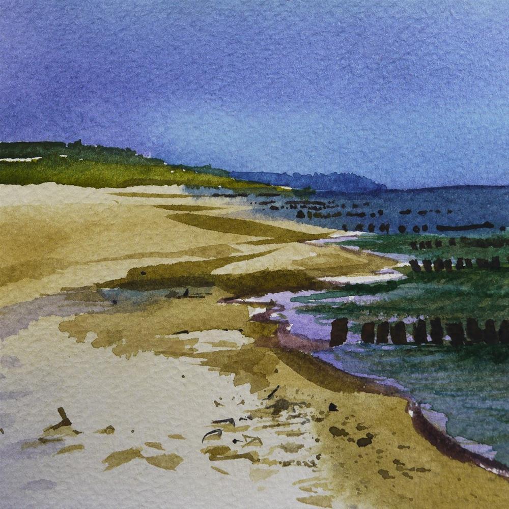 """beach"" original fine art by Beata Musial-Tomaszewska"