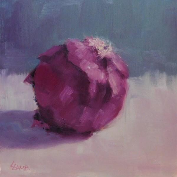 """""""Red Onion Study"""" original fine art by Lori L. Lamb"""