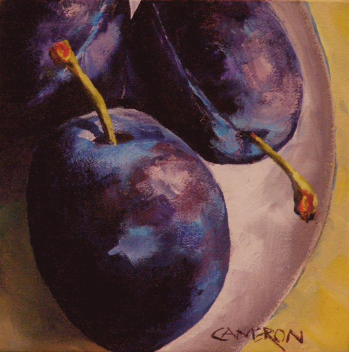 """PLUMS TODAY"" original fine art by Brian Cameron"