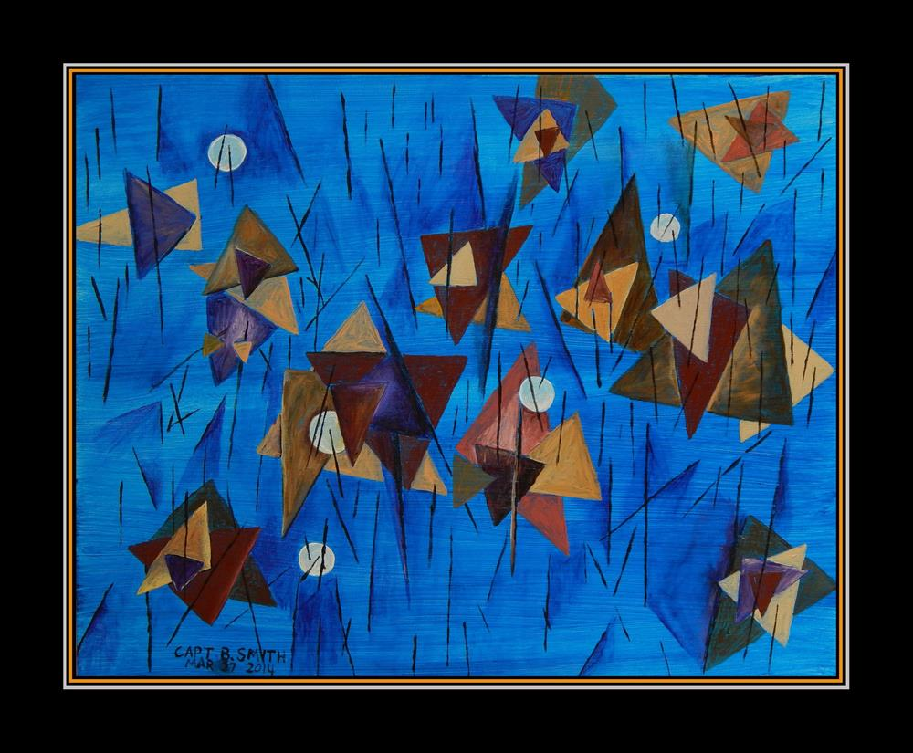 """Shapes in a Blue World"" original fine art by Captain B Smith"