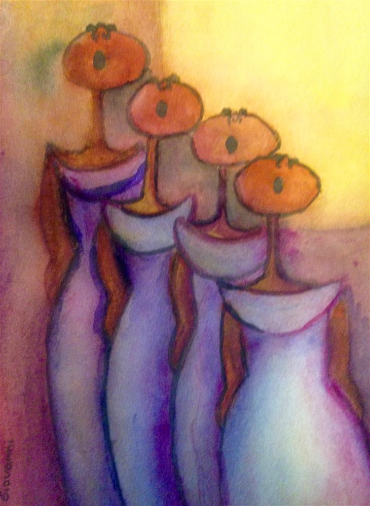 """The choir"" original fine art by Giovanni Antunez"