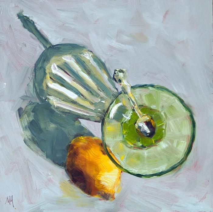 """""""Lemon #3"""" original fine art by Maria McNitt"""