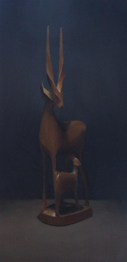 """""""My wooden deer"""" original fine art by Thorgrimur Andri Einarsson"""