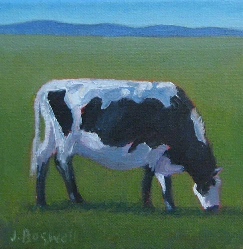 """""""Hazel the Holstein"""" original fine art by Jennifer Boswell"""