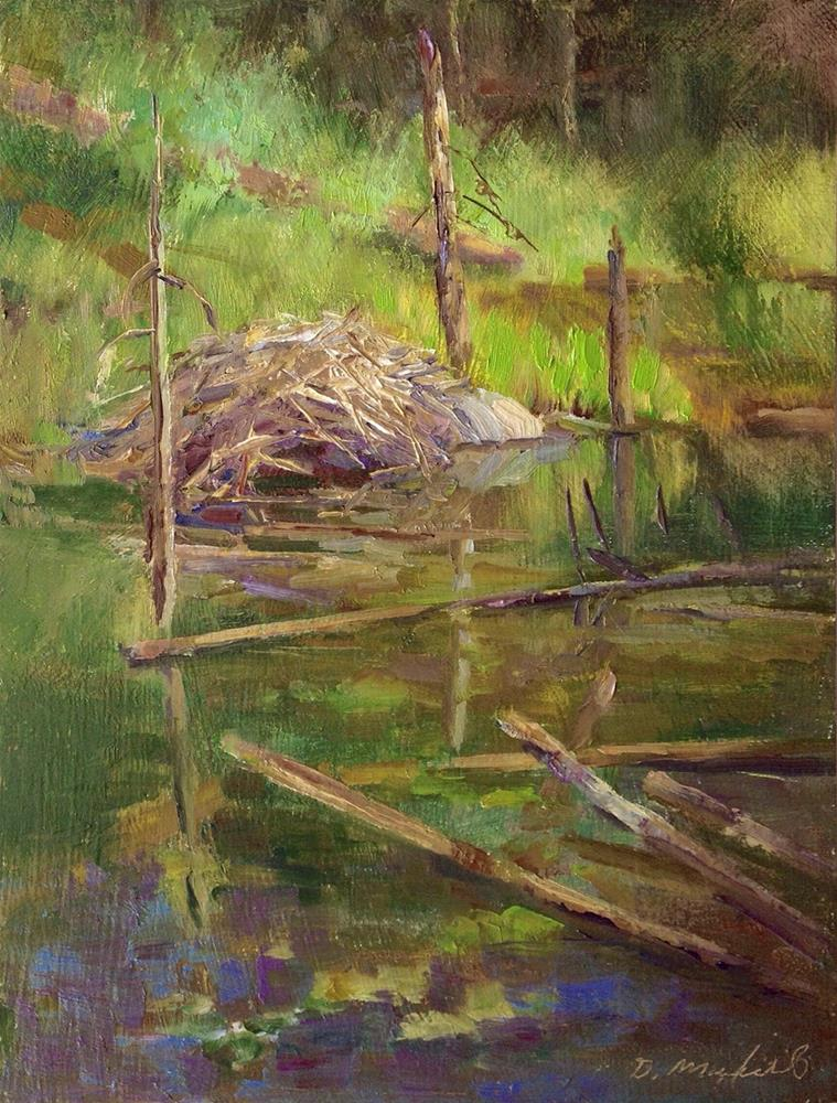 """Coquitlam River Wetlands"" original fine art by Denise Maxwell"