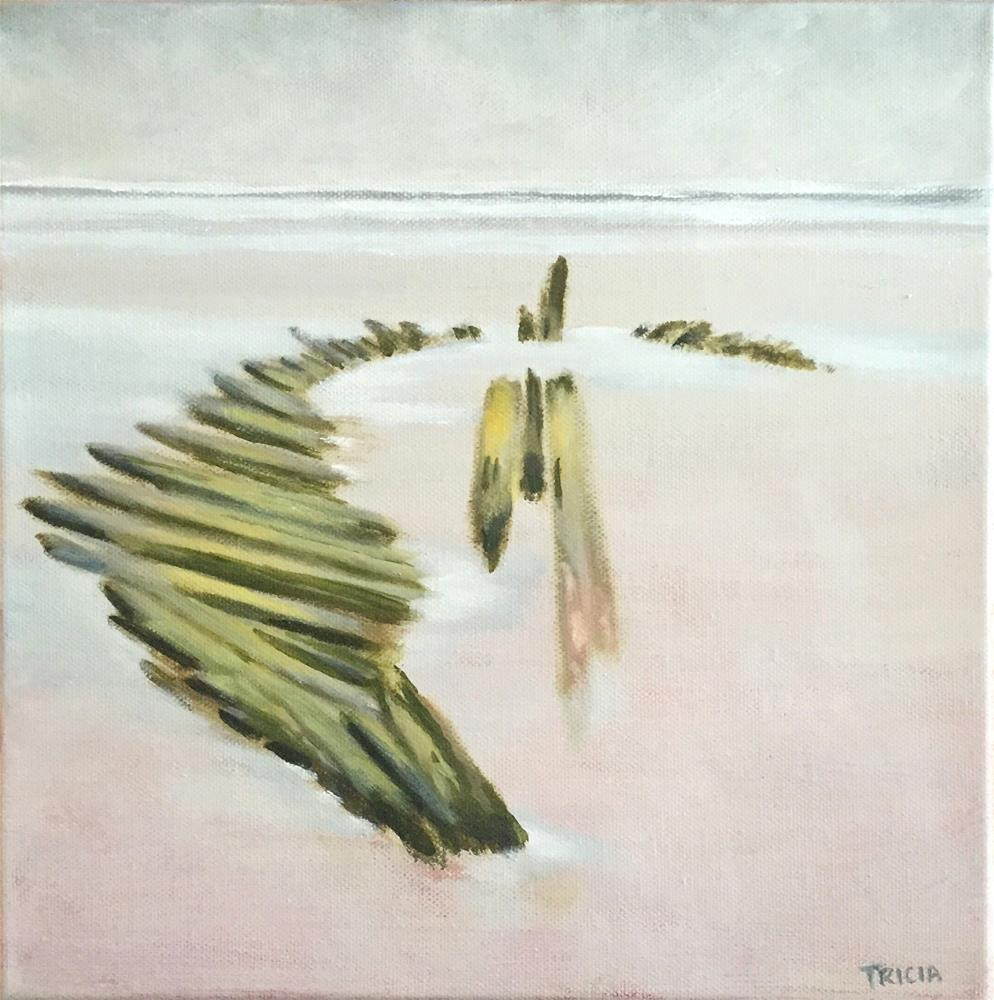 """Shipwreck at Higgins Beach"" original fine art by Tricia Granzier"
