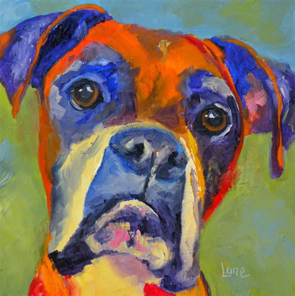 """DODGER 45/100 OF 100 PET PORTRAITS IN 100 DAYS © SAUNDRA LANE GALLOWAY"" original fine art by Saundra Lane Galloway"