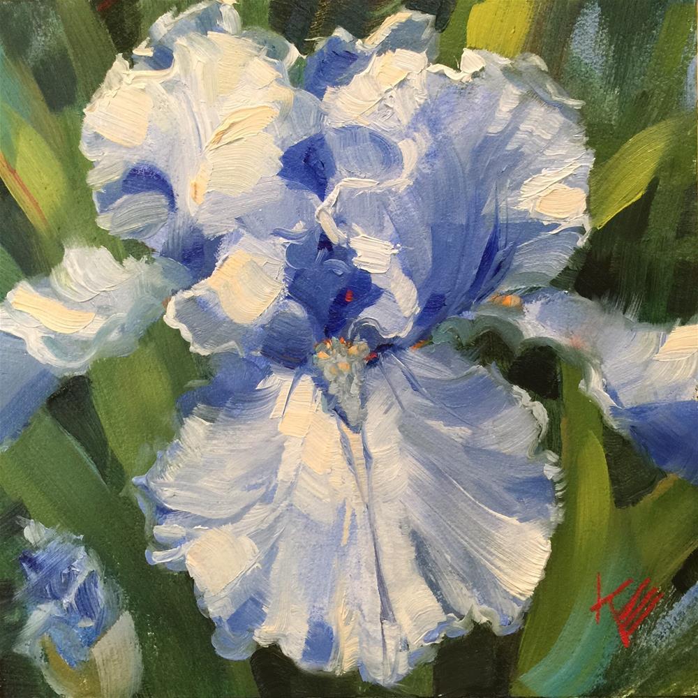 """""""Queen Elizabeth: Bearded Iris"""" original fine art by Krista Eaton"""