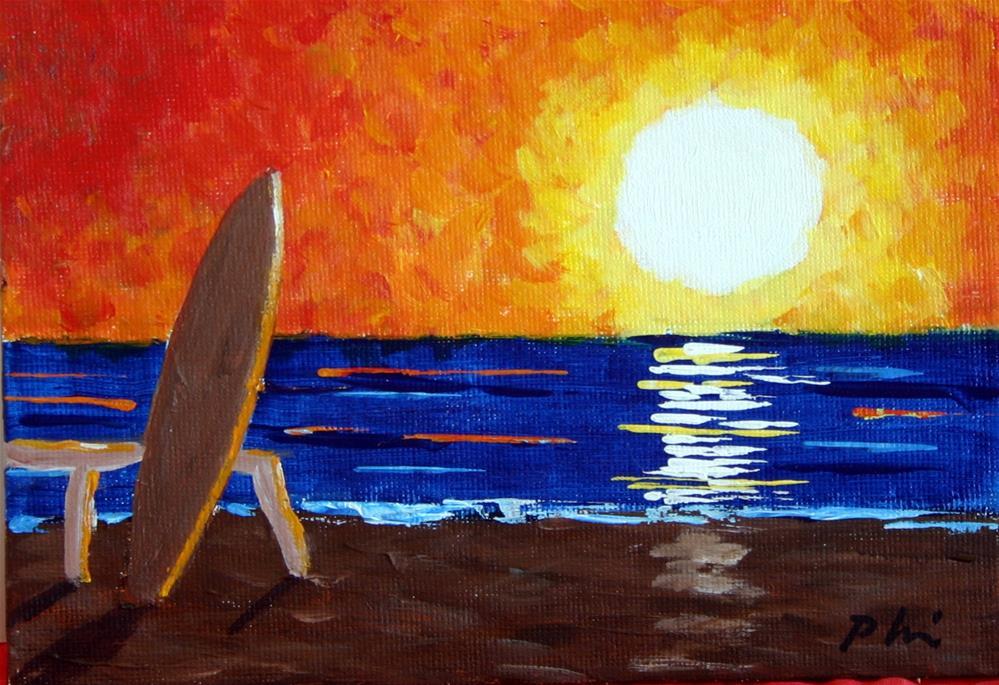 """SUNRISE"" original fine art by Bob Phillips"