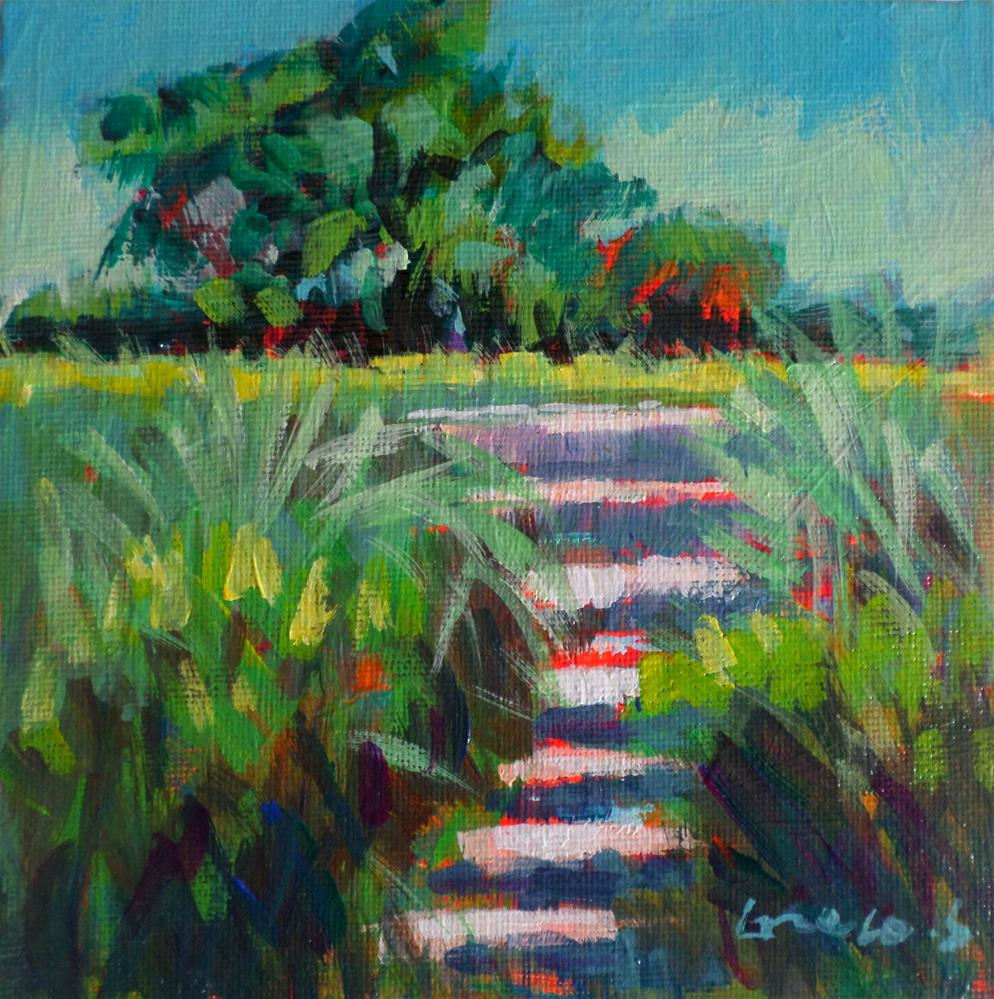 """Garden stairs in Ardennes"" original fine art by salvatore greco"
