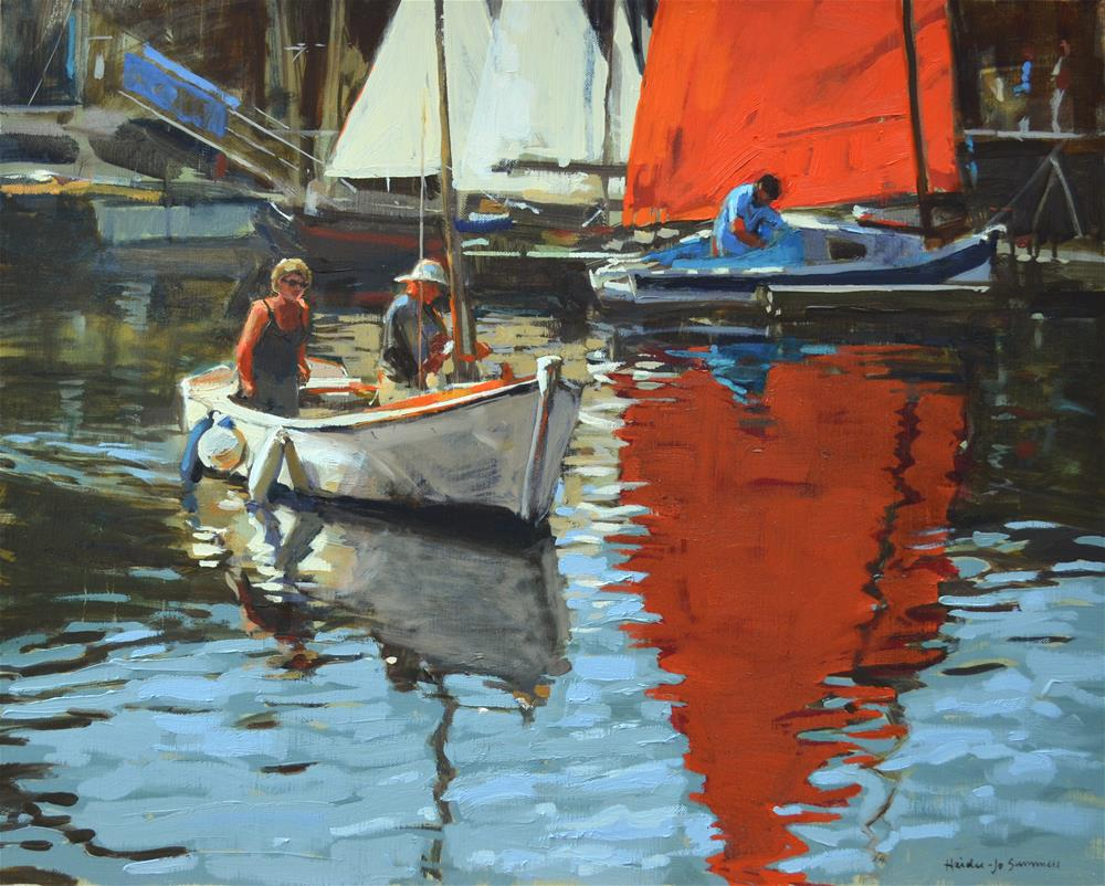 """""""Heading out of harbour"""" original fine art by Haidee-Jo Summers ROI"""