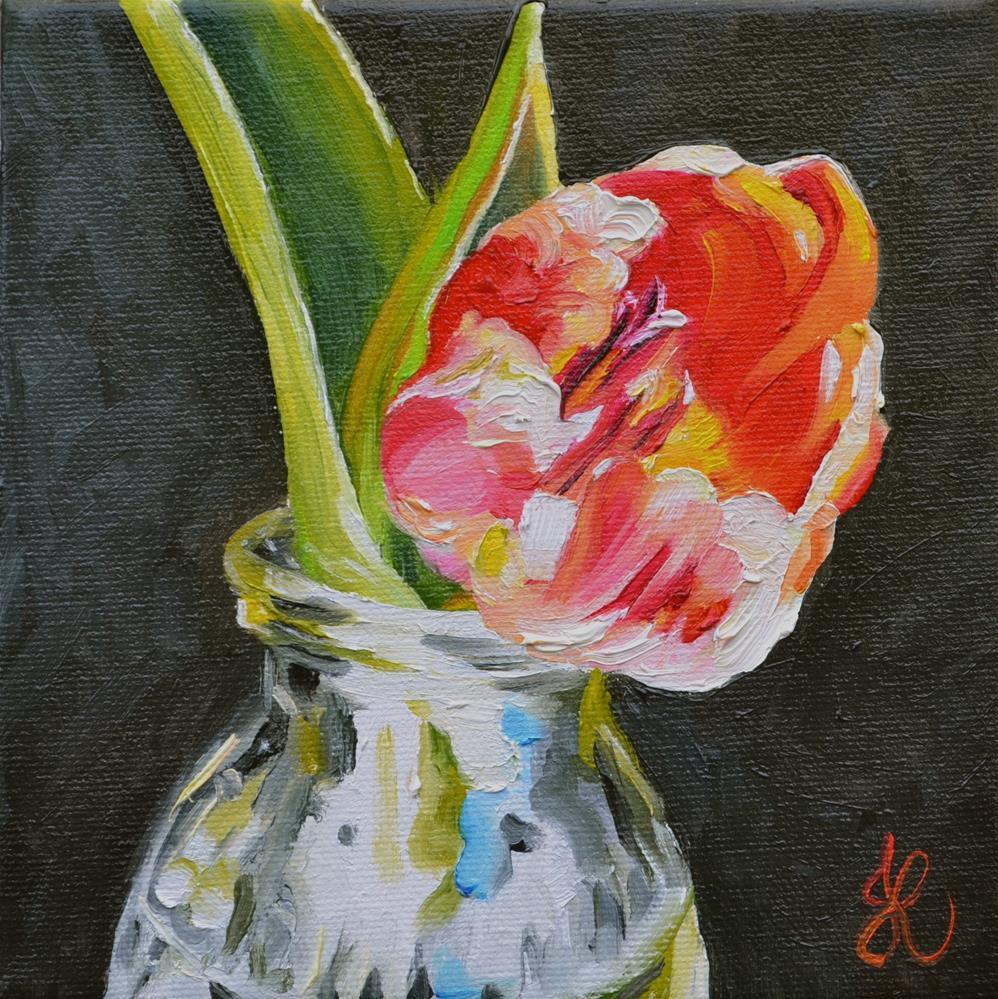 """Spring Tulip"" original fine art by Jacinthe Rivard"