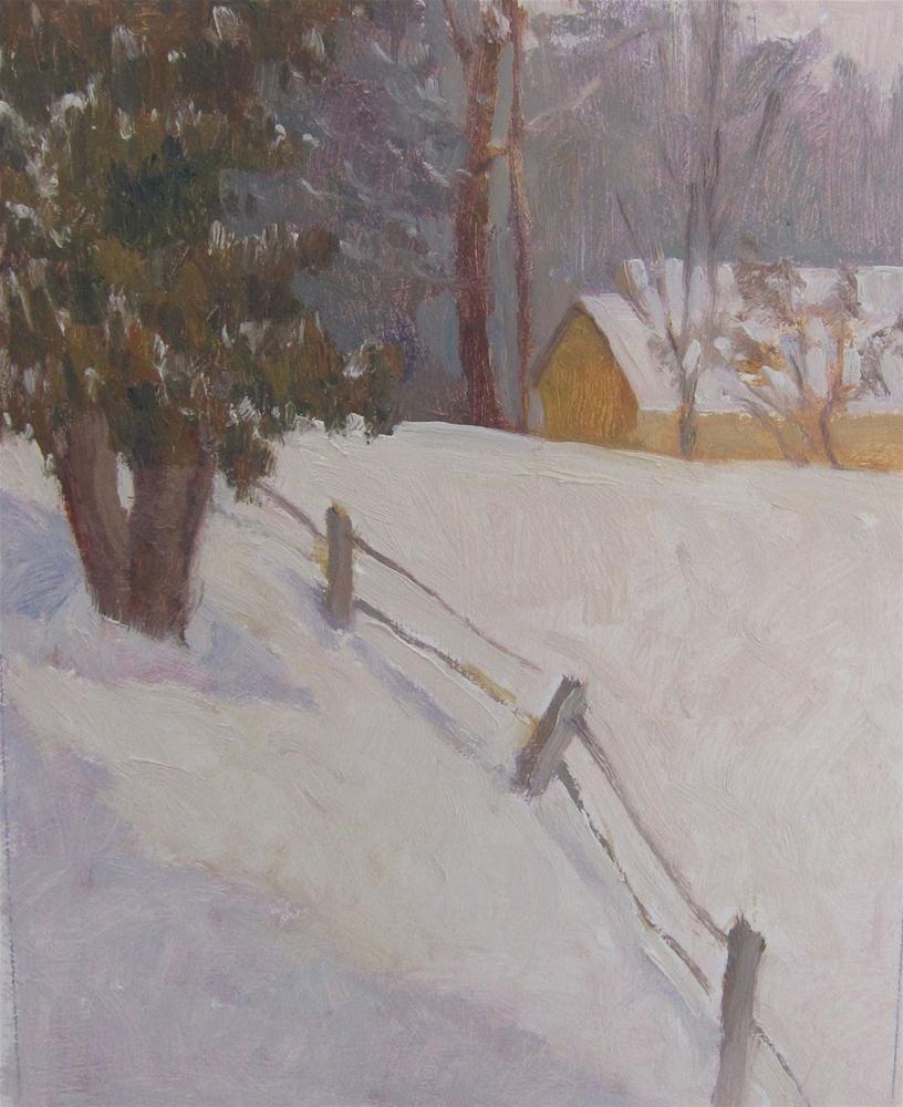 """Fresh Snow"" original fine art by Eden Compton"