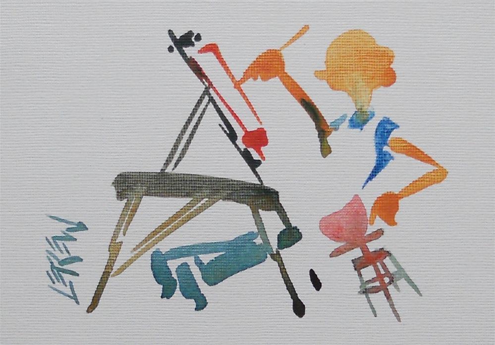 """Serendipity Blot Figure Sketch #13-08-10"" original fine art by Larry Lerew"