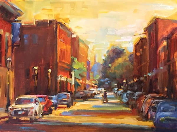"""Street Scene"" original fine art by Karen Bruson"