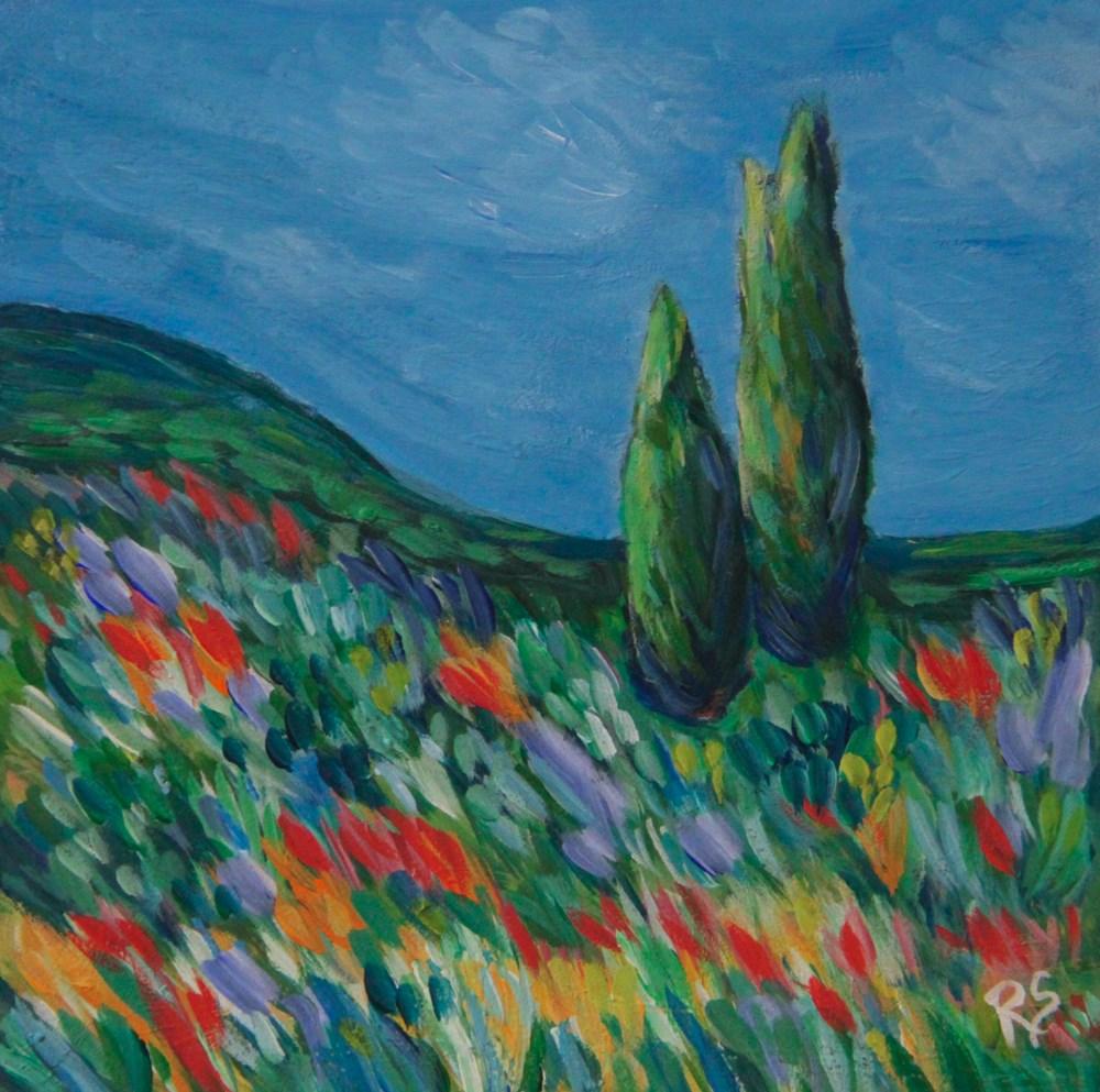 """Under Skies of Blue"" original fine art by Roberta Schmidt"