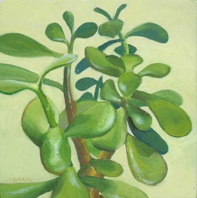 """Jade plant"" original fine art by Jean Wilkey"