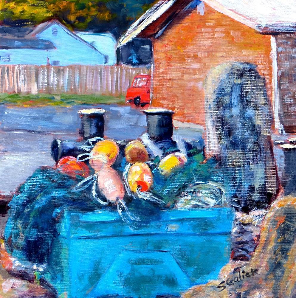 """Bandon Buoys"" original fine art by Susan Galick"