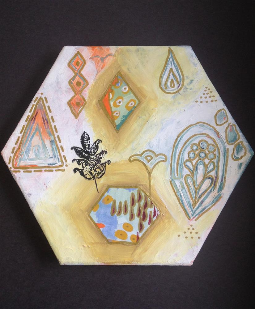 """Sandy Pier Shapes"" original fine art by Nicole Saunders"