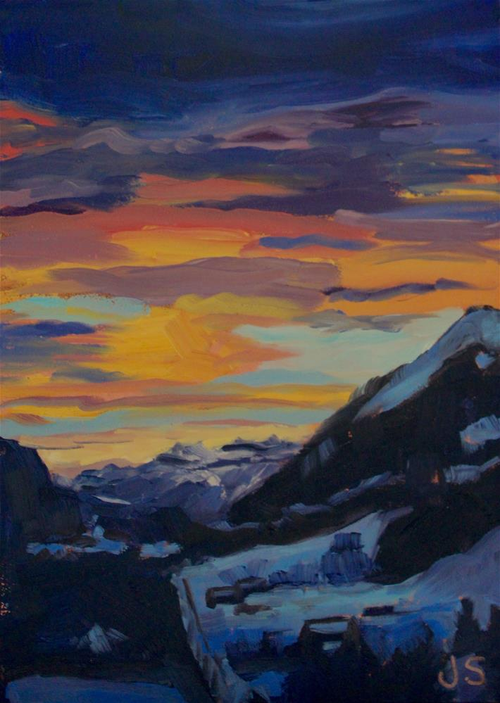 """Color Streaks"" original fine art by Jamie Stevens"